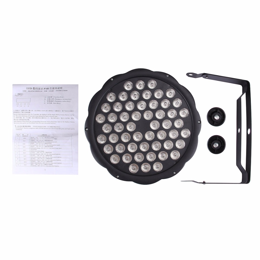 12/36/54 LED Bulb Par Light Sound Control Stage Effect Light Spotlight Lamp Professional Lighting For Disco DJ Paty KTV Show