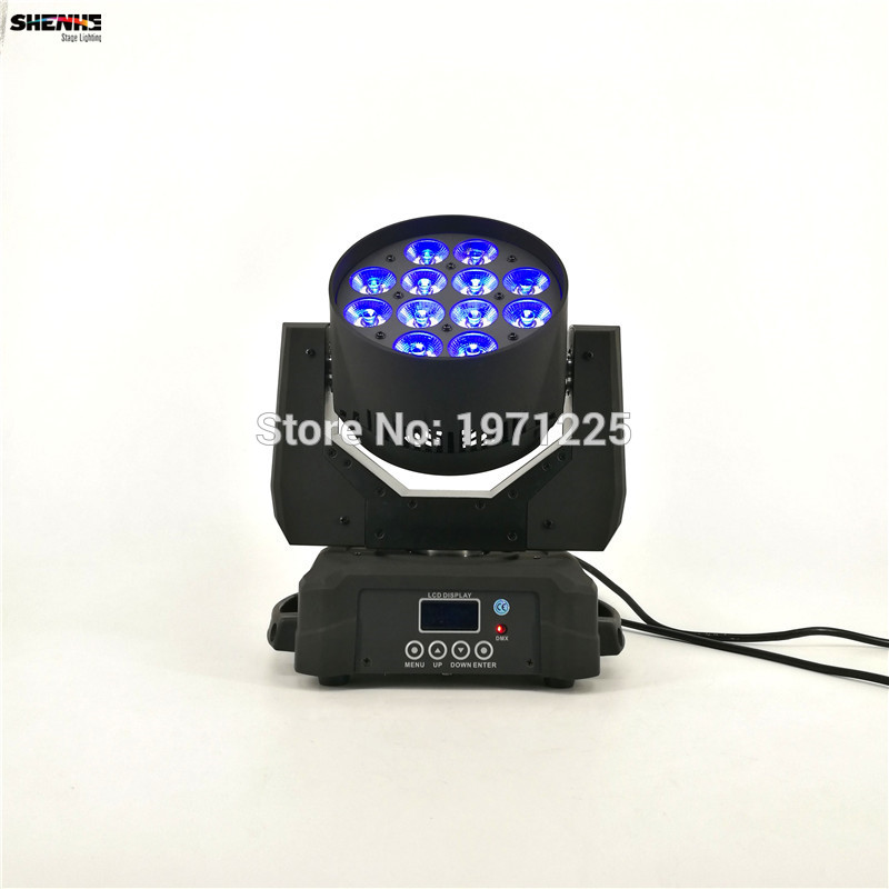 Led Wash Moving Head Stage Light 12x12W RGBW Mobile Disco Light Quad LEDs DJ DMX Lamp RGBW Light professional stage dj equipment