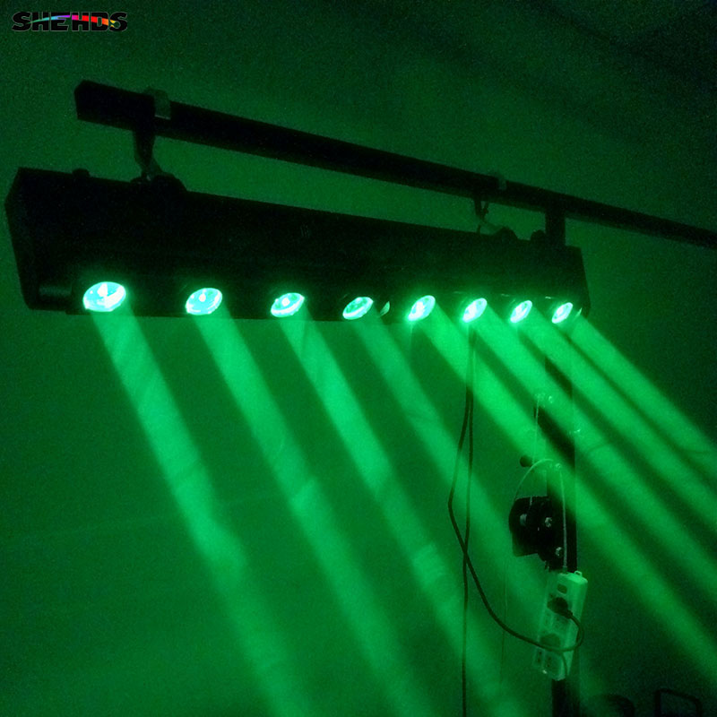 2pcs/lot LED Bar Beam Moving Head Light RGBW 4x12W+4x12W Perfect for Mobile DJ, Party, nightclub SHEHDS Stage Lighting