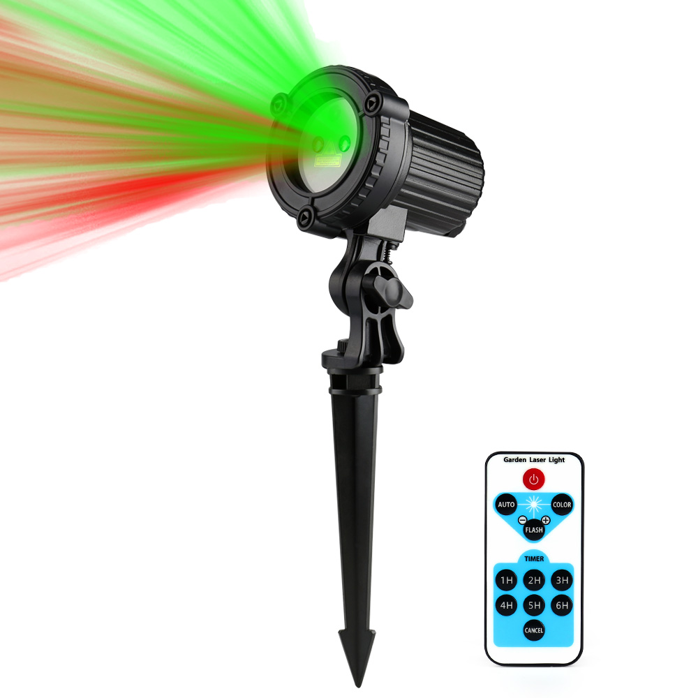 Red Green Laser Lights Outdoor Garden Star light Christmas Laser Projector IP44 Waterproof IR Remote Control Show RG Decoration