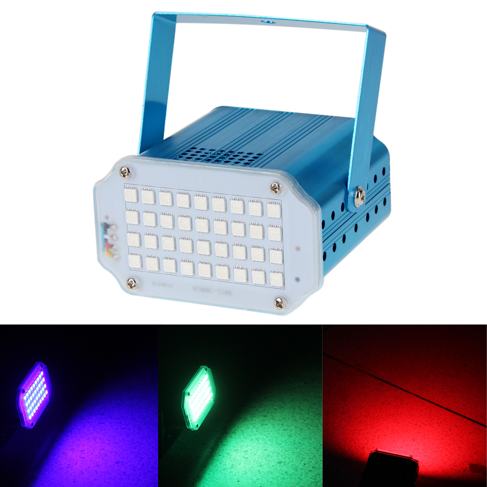Stage Light Projector 36 LED 36W RGB DJ Disco Party Show Light Stage Laser Pointer Lighting Strobe Flash Stage Pattern Lights
