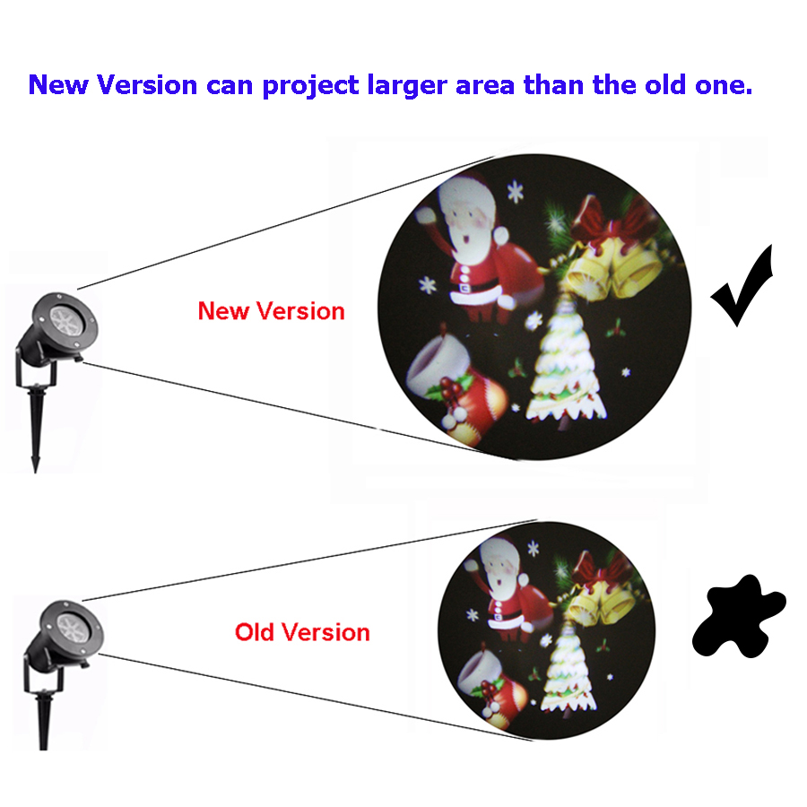 BEIAIDI Moving Snowflake Star Christmas Laser Projector Light Outdoor Christmas Landscape Garden Star Light for Halloween Party