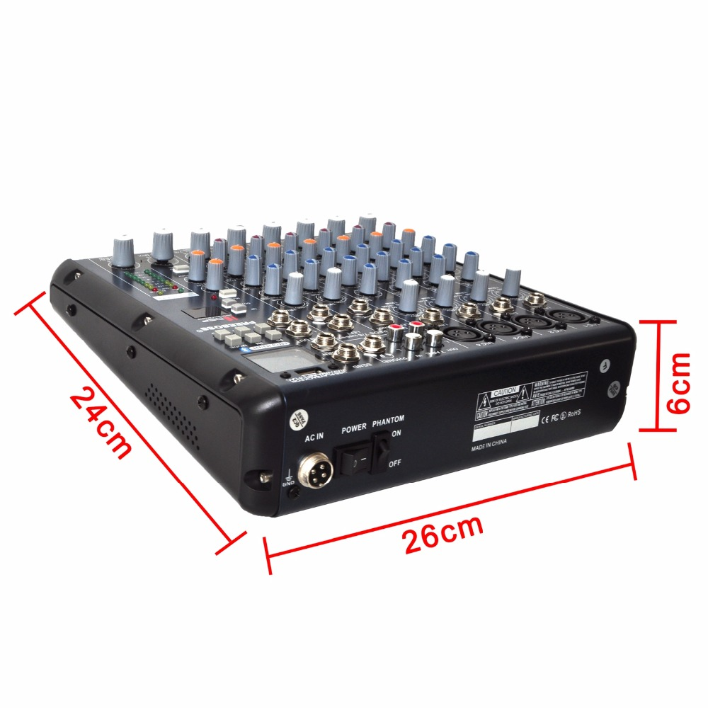 Freeboss SMR8 4 Mono + 2 stereo 8 channels 16 DSP good quality hot sell USB professional audio dj mixer