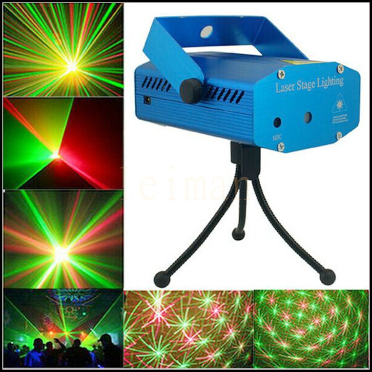 DMX Stage Laser Projector Strobe Lighting Stroboscope Luzes Para Festa Mini DJ Disco Party Light R&B Laser Stage Lights