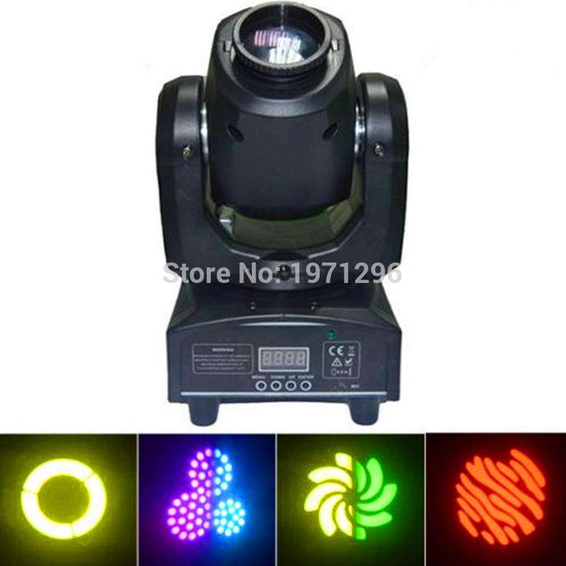 Hot 4pcs/lot Best Selling 30W Spot Gobo LED RGB DJ Mini LED Spot/Gobos Moving Head Stage Light