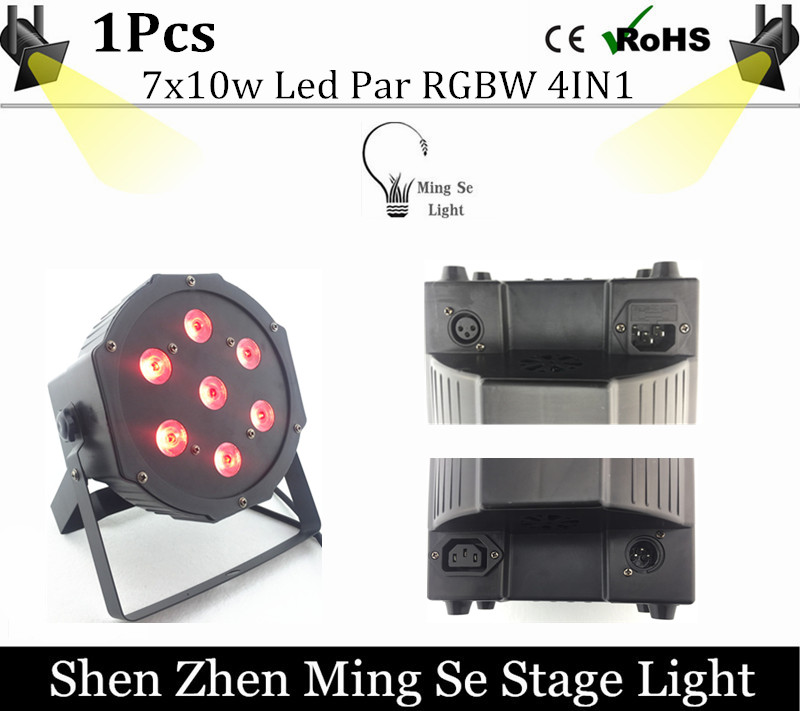 7x10W led Par lights RGBW 4in1 flat par led dmx512 disco lights professional stage dj equipment