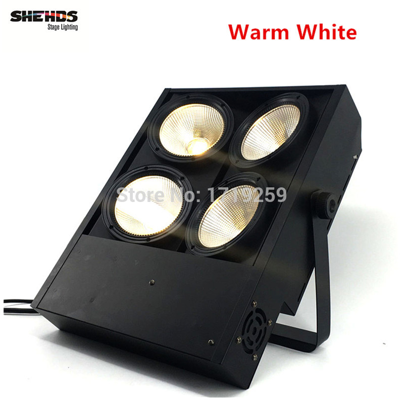 2 pcs/lot 4x100W blinder light 4eye COB LED Wash Light  High power DMX Stage Free & Fast Shipping