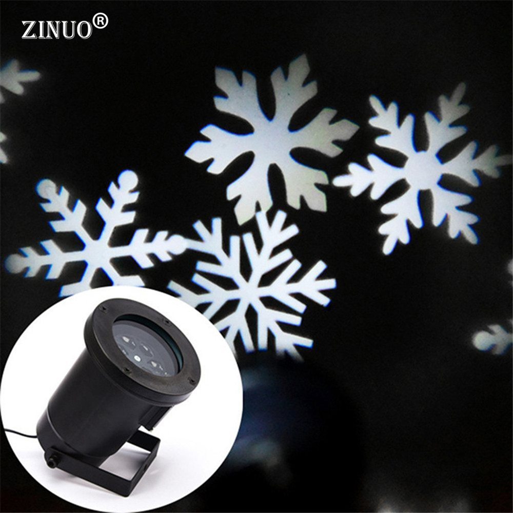 ZINUO Christmas Laser Snowflake Projector Outdoor LED Waterproof Disco Lights Home Garden Star Light Indoor Shower Decoration