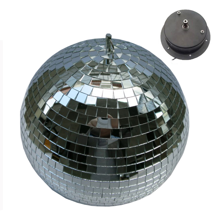 10W RGB Beam Pinspot Disco DJ Stage Lights + D25CM Reflective Glass Rotating Mirror Ball With Motor fixtures For KTV Club Party