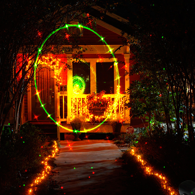 Hikity Spotlight Waterproof Indoor Outdoor Stage Laser Lights Galaxy LED Projector Lamp Party Wedding Garden Decoration Light