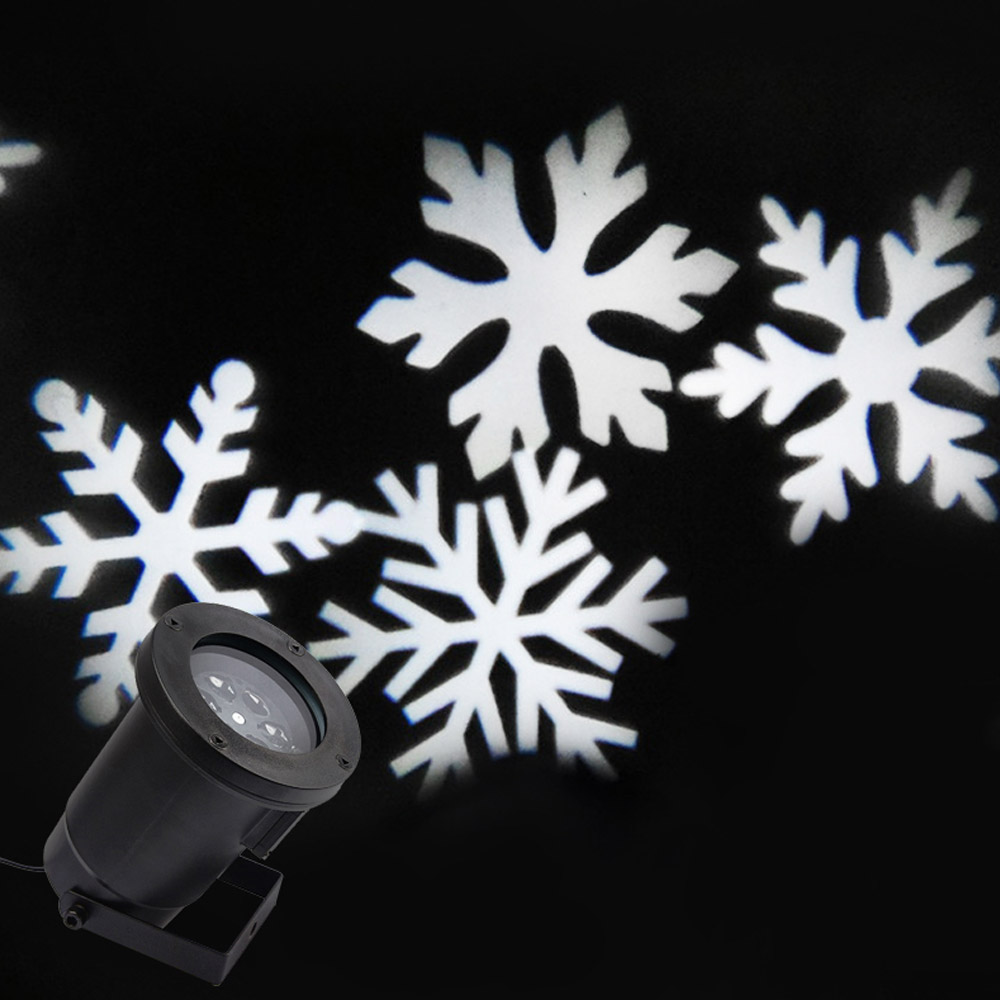 Outdoor Snowflake LED Stage Light Garden Moving Snow Laser Projector for Christmas Tree Party Wedding Decoration Landscape Lamp