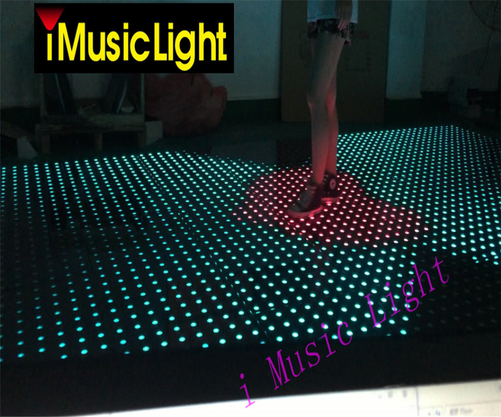 8pcs/lot 8*8 pixels Interactive dance floor SD Control SMD 5050 RGB 3in1 Decoration Wedding DJ Disco Party