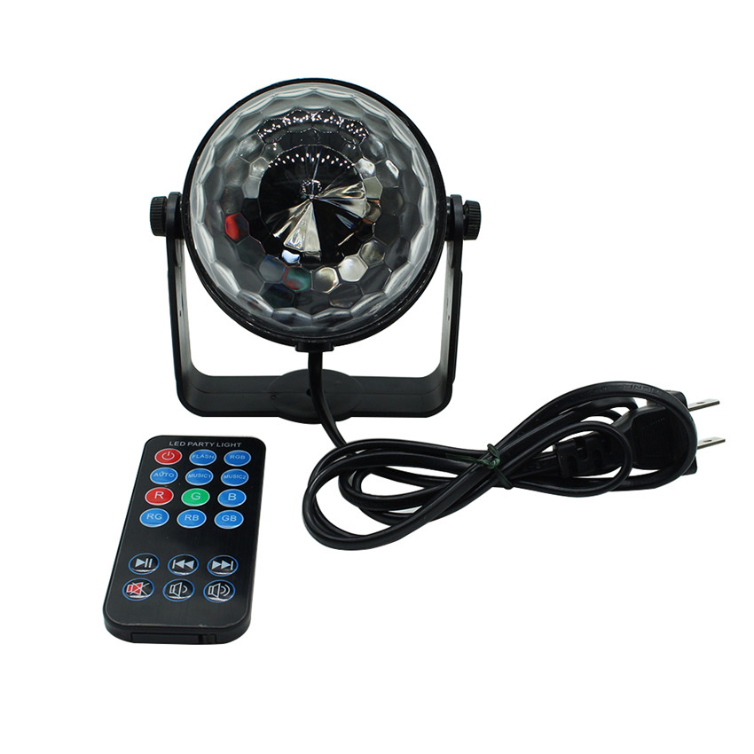 Mini-3W-led-stage-light-with-wireless-remote-AC85-265V-Sound-activated-Crystal-Disco-Ball-light