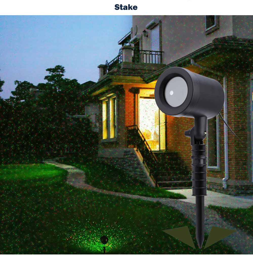 Laser Shower Waterproof Outdoor Laser Light Projector Christmas Holiday Twinkling Star Lights Garden Decorations for home