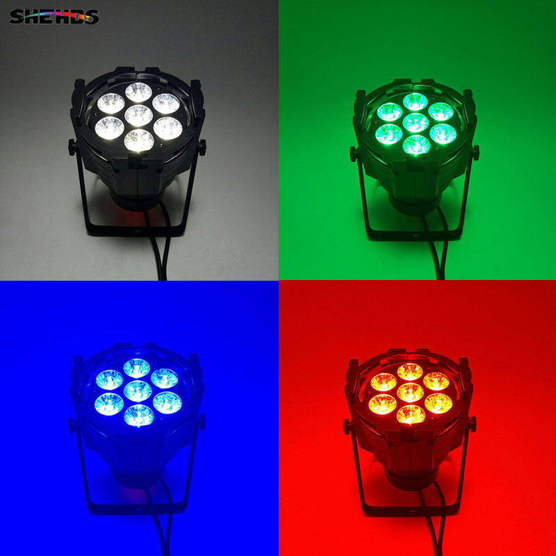 2pcs/lot LED Par Can 7x12W Aluminum alloy LED Par RGBW 4in1 DMX512 Wash dj stage light disco party light Dj Lighting