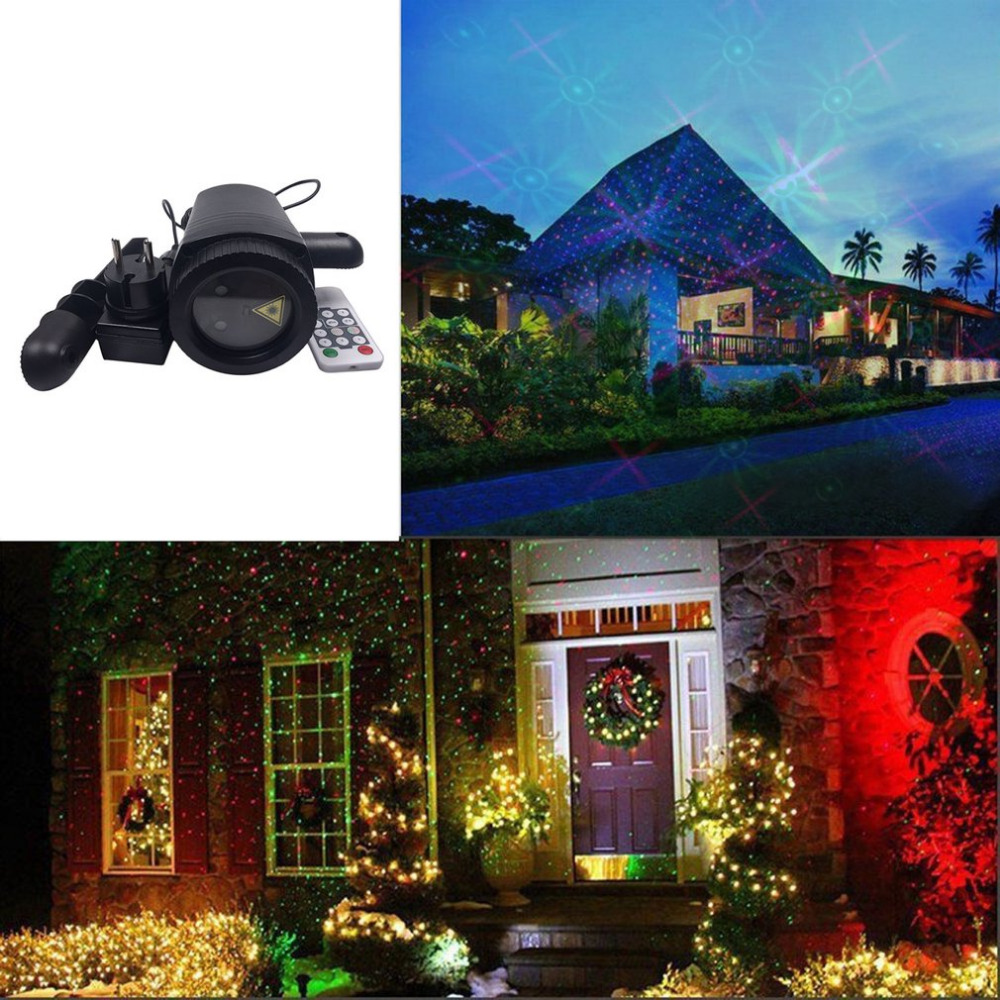 Outdoor LED Projection Lawn Lamp Waterproof Dynamic Light Change Pattern Laser Lights With Remote Control Party Yard Landscape