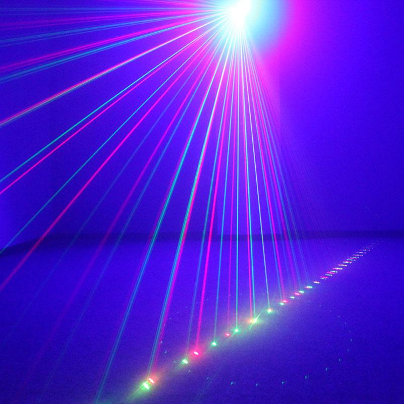Mini Laser Projector DJ Stage Effect Lighting RG 9 Patterns Remote Family Party KTV Disco Professional Indoor Shower LED Lights