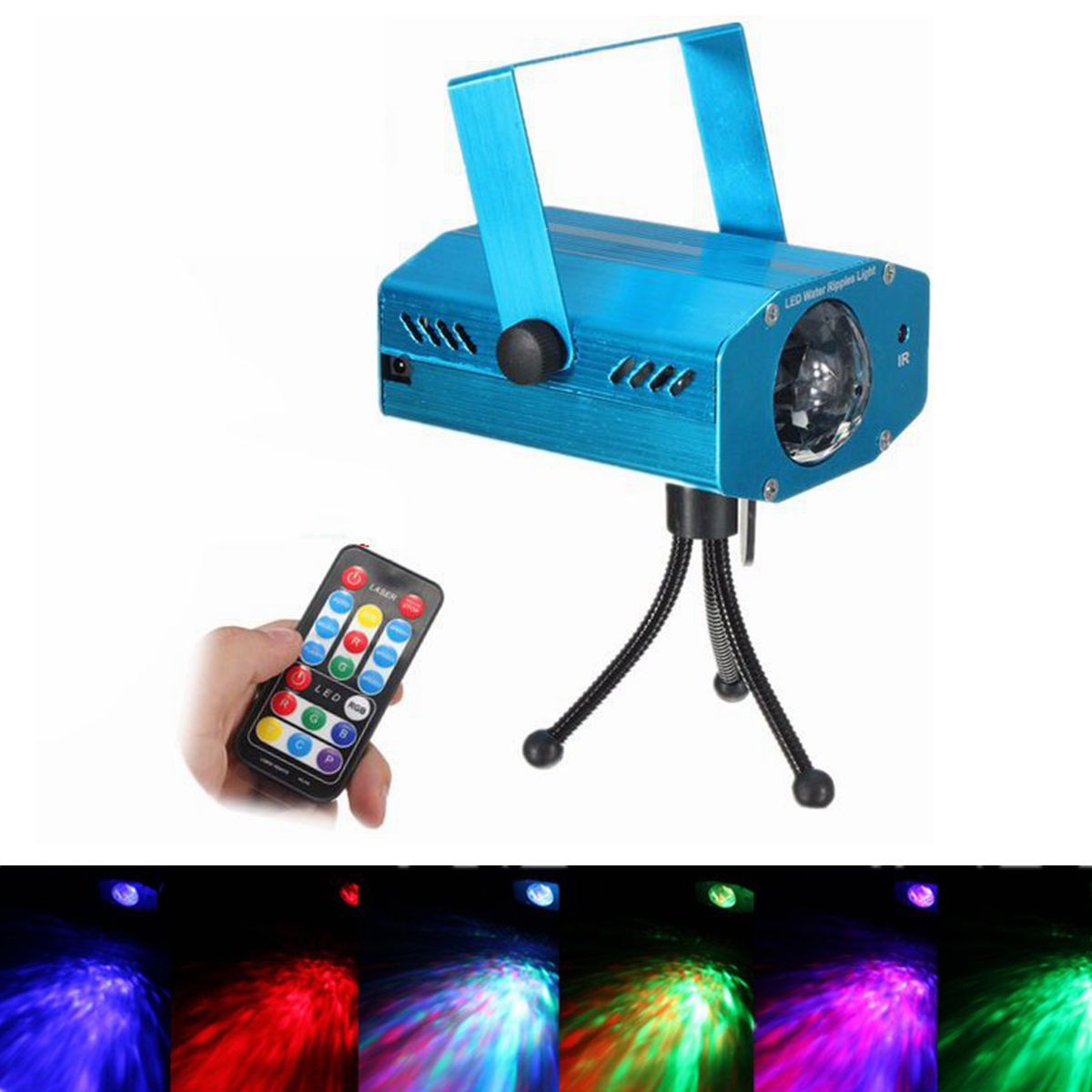 Min Remote wave projection 3W Voice-activated Remote Stage Light Lamp Music Auto Party DJ Laser Projector US/EU Plug AC85-265V