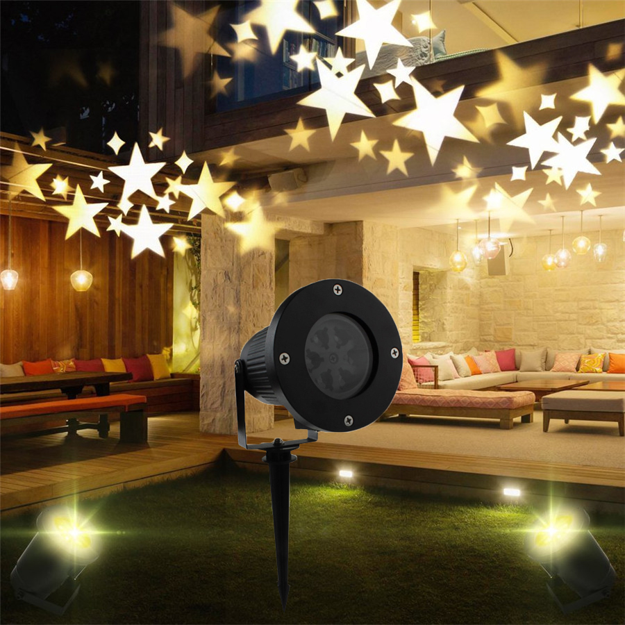 BEIAIDI Waterproof Star Laser Spotlight Moving Garden Lawn Lamp Laser Lamp Christmas Party Garden Patio ornament Lighting