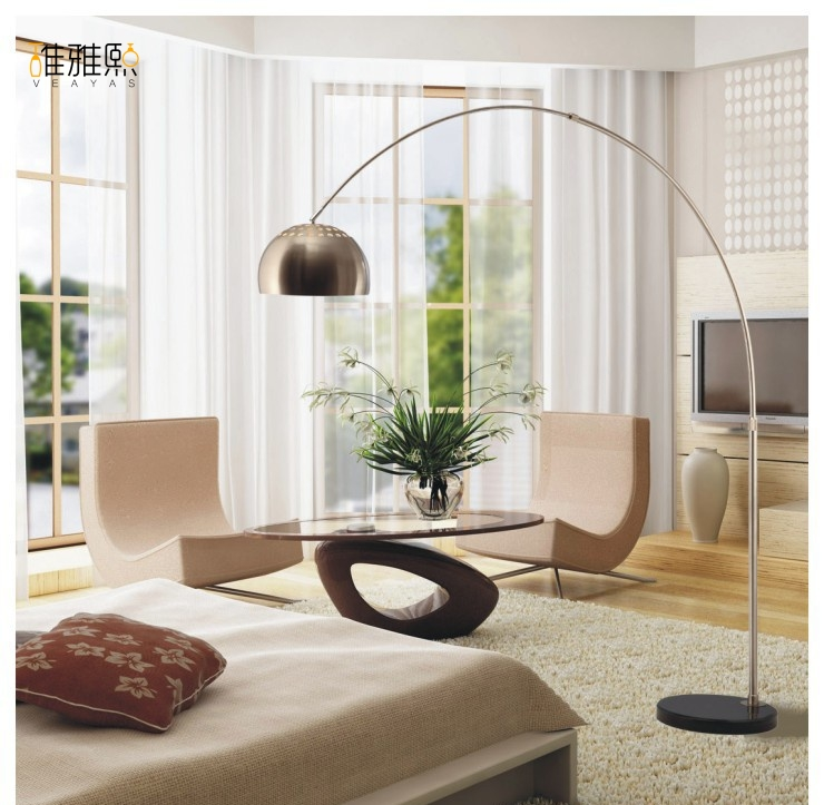 Stainless steel lamp factory direct wholesale lighting floor lamp fishing lamp LED e27