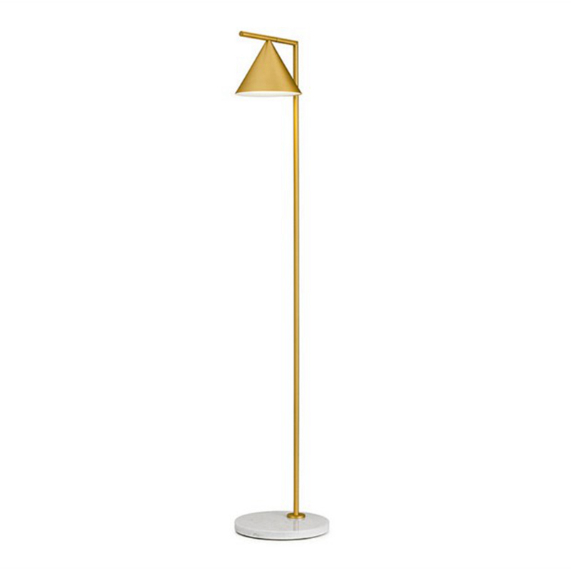 Captain flint Simple Modern Floor Light Kung E27 3W led lamp Creative standing lamp gold  black body color lampshade