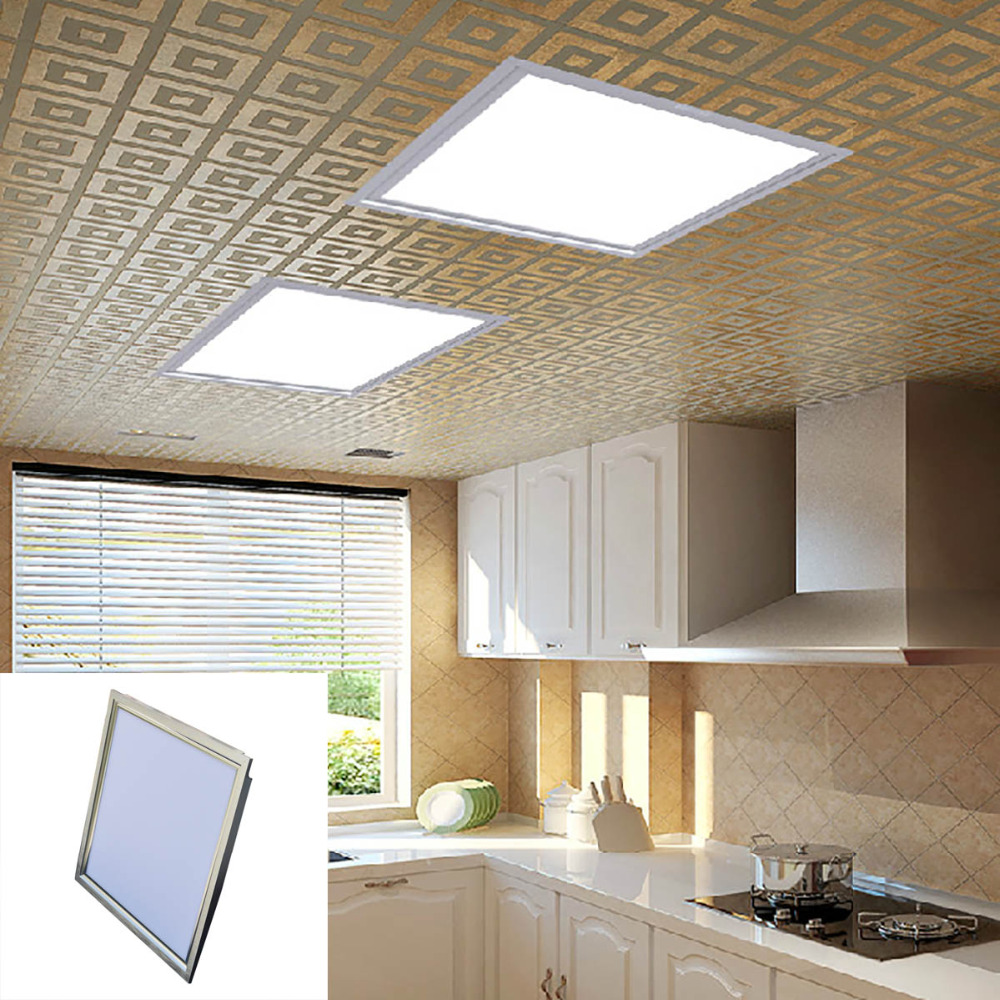 10pcs/lot 18W 300x300mm  Ultra-thin LED Ceiling Panel Lamp Cool White/Warm White 90-3014 SMD  (AC 100~240V)