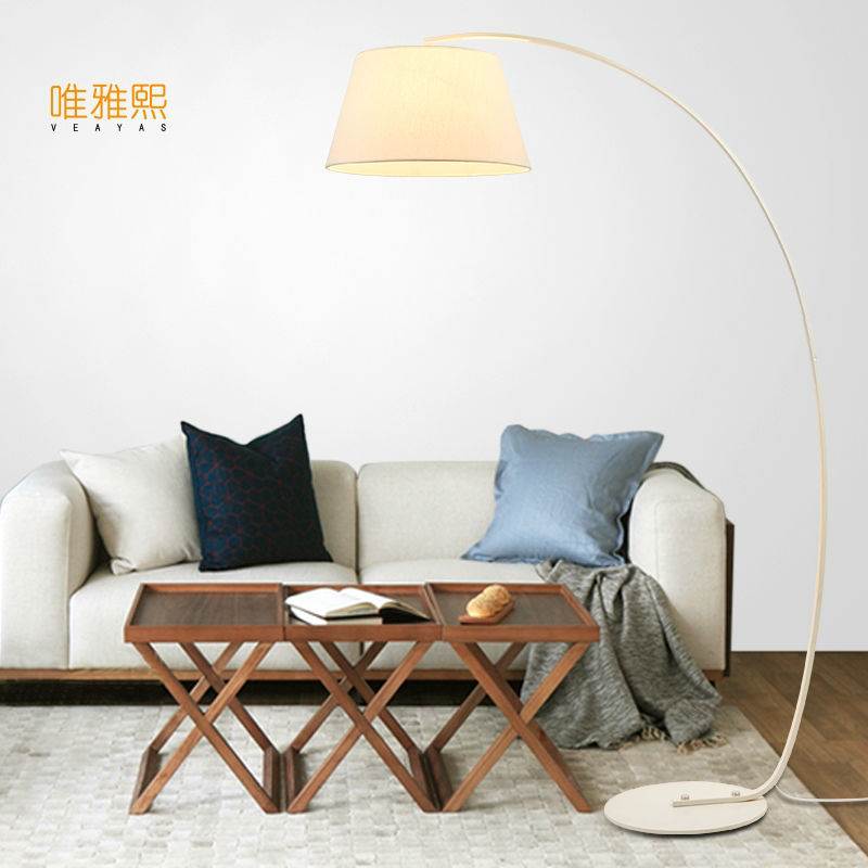 Black White FLOOR  lamp fabric lighting table and ligts modern floor lighting bed room lighting