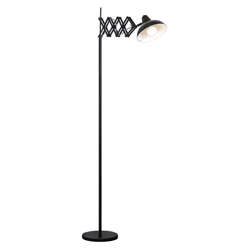 Nordic Floor Lamps unfoldable floor Lights spider arm metal lampshade Lights Fixture Toolery black color E27 bulb standing lamp