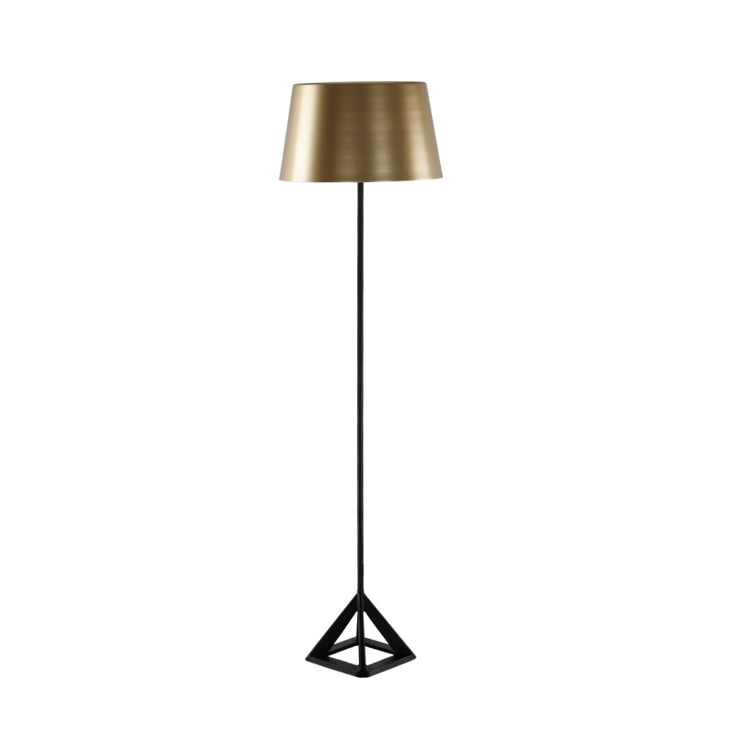 Simple Modern Floor Light gold color metal Nordic Triangle Iron Table Lamp Office Bedside Table Desk E27 6W LED lamp collection