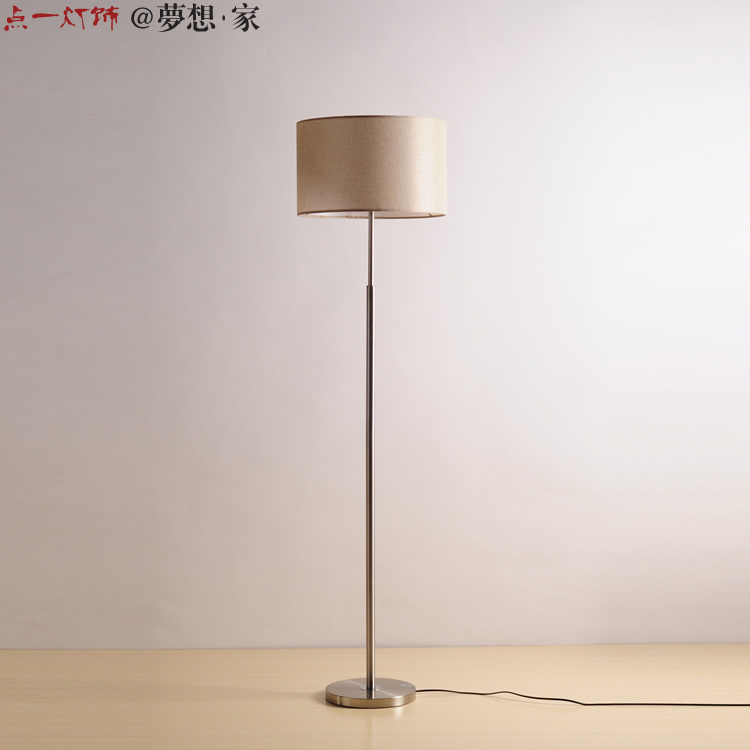 Simple modern floor lamp creative fashion bedroom bedside floor light lamp black cloth vertical lighting ZS106