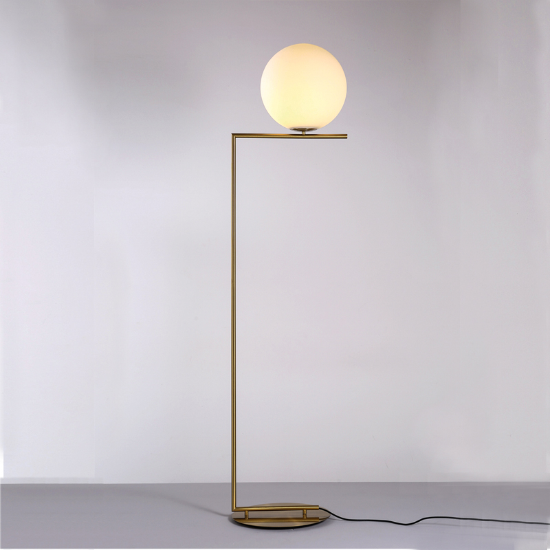 Glass Ball Floor Light lamp Modern Floor lamps Metal Tripod Floor Zoom for living room bedroom kids room
