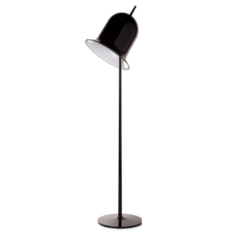 FUMAT  Floor Lamp Modern Stand Lamp for Bedroom Foyer Art Decor Metal Floor Light Black White Pink Bell Floor Lamps