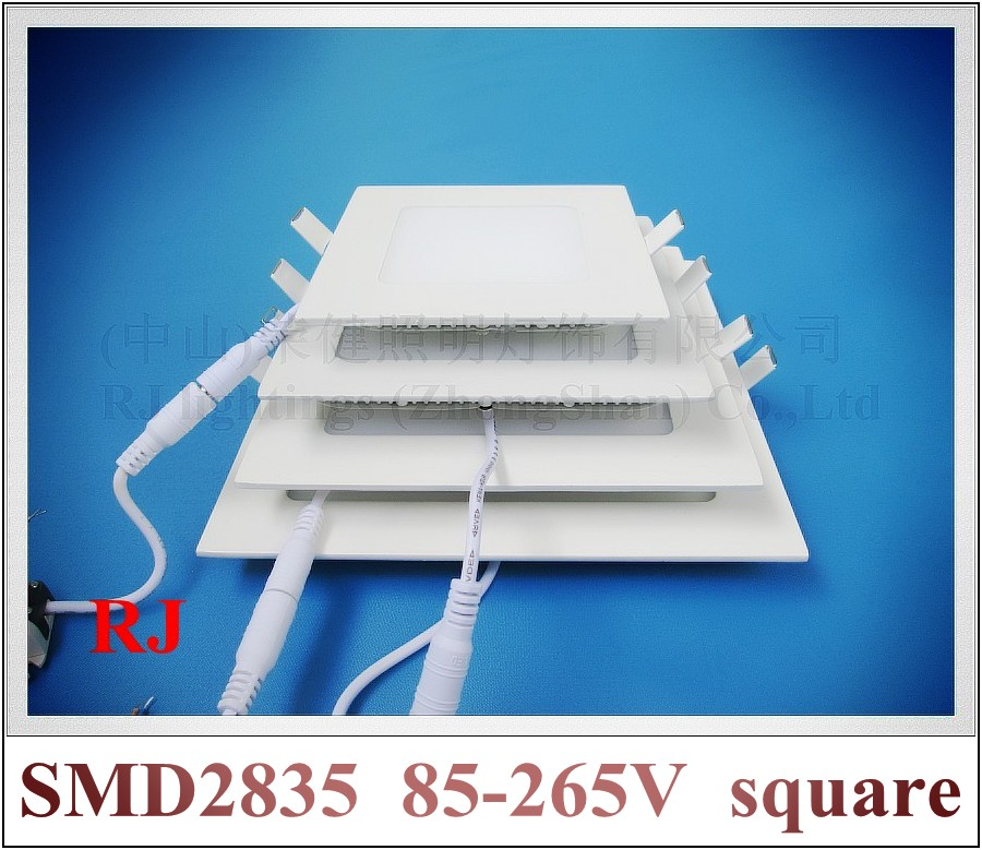 LED panel indoor flat lamp square 120X120 6W / 150X150 9W / 170X170 12W / 200X200 15W / 225X225 18W / 300X300 24W aluminum CE