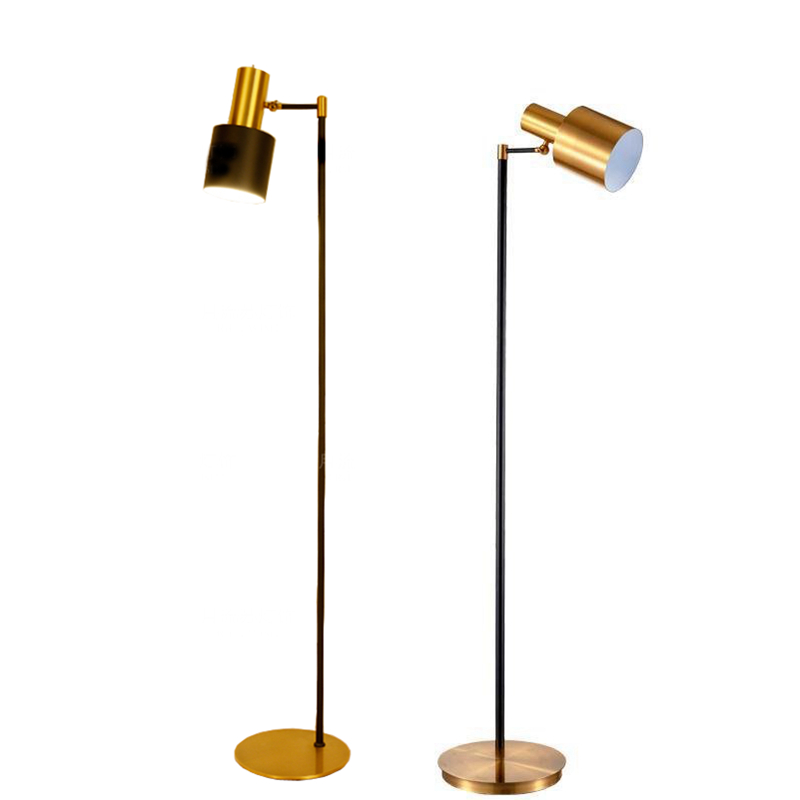 TOOLERY retro industrial Floor Lamp creative LED Floor Light brass color standing Lamp Living Room Bedroom two year Guaranteed