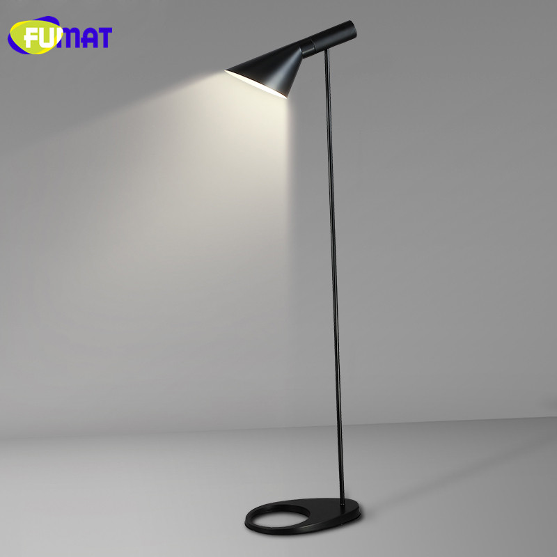 FUMAT Floor Lamps Simple Industrial Metal Stand Lamp Modern Nordic Floor Lamp for Bedroom Study LED Lampadaire de salon