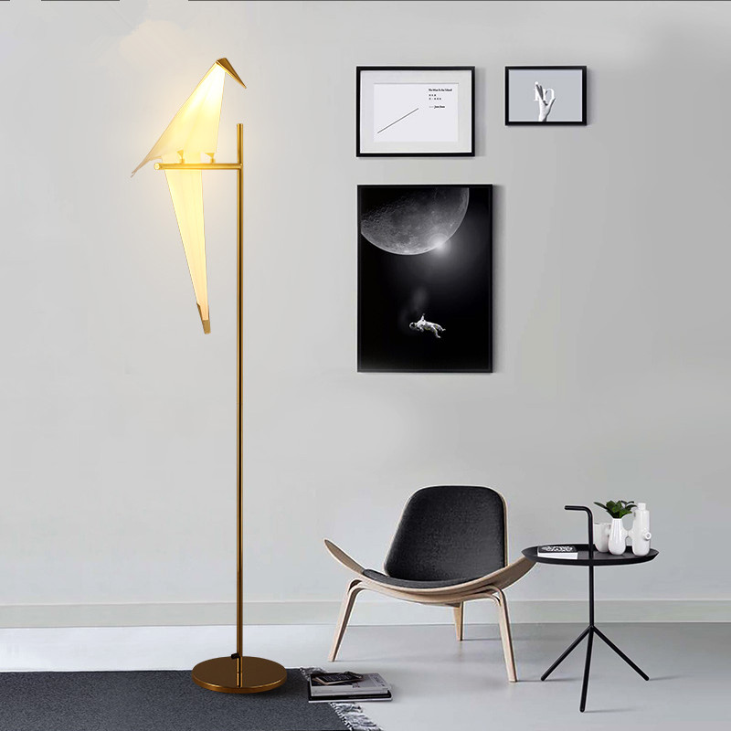 Modern Nordic Bird Paper Cranes Floor Lamp For Bedroom Living Room Standing Lamp Light Fixture  Sofa Bedside Reading Lamp Light