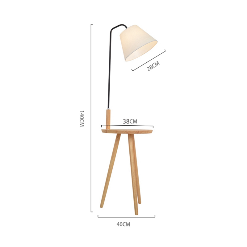 Nordic Style Floor Lamp Lights oak wood table simple Fashion Design Lights For Living Room Country House Bar Hotel livingroom