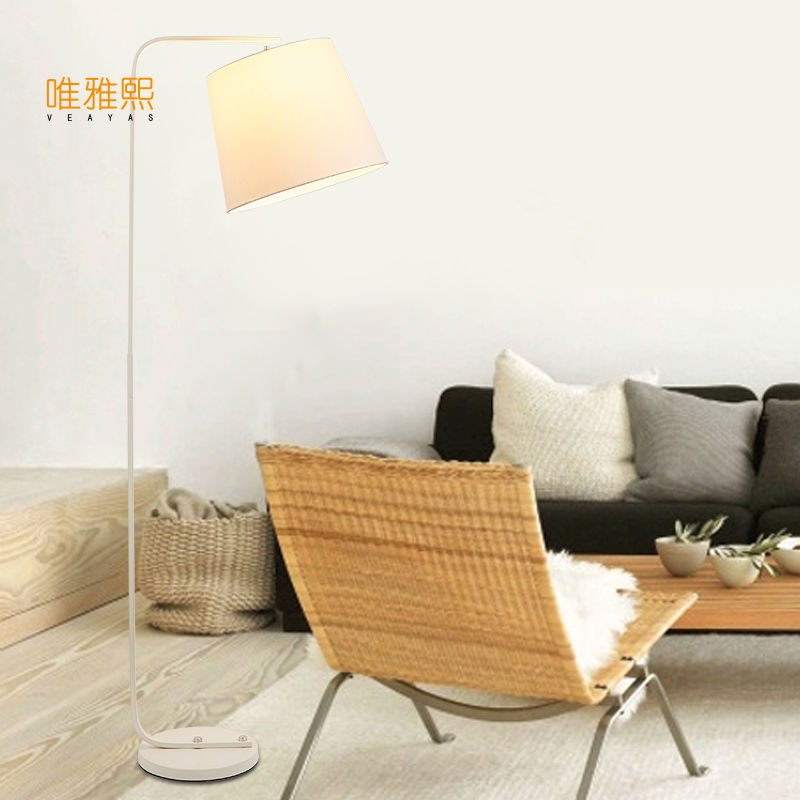 Black floor lamp fabric lighting floor and ligts modern floor lighting bed room lighting