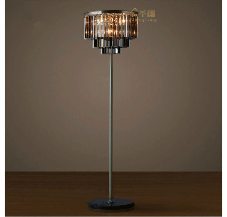 modern simple  crystal desk lamp Nordic study bedroom  living room  bedside decorative crystal floor lamp