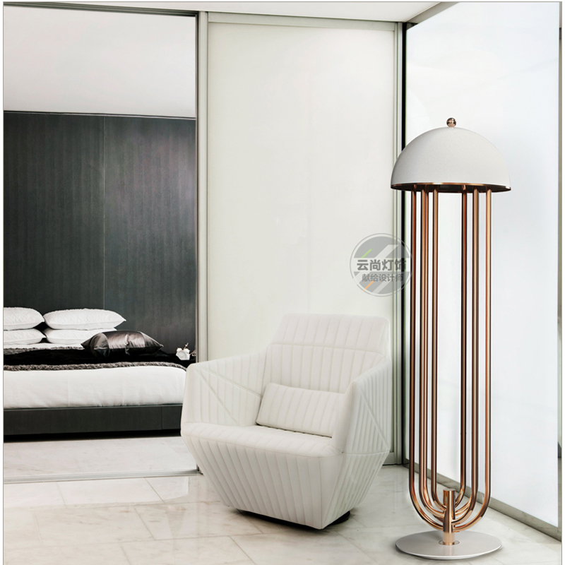 Modern floor lamps for living room White black aluminum lamp cover lamp LED G9 For the living room lobby