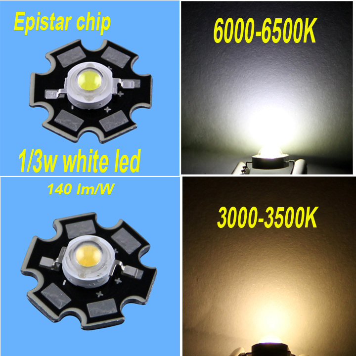 3W  Warm White Led Chip Epistar 45mil Warm White 3w 20mm Star Platine Base epistar LED Bulb Diodes Lamp 220lm-240lm