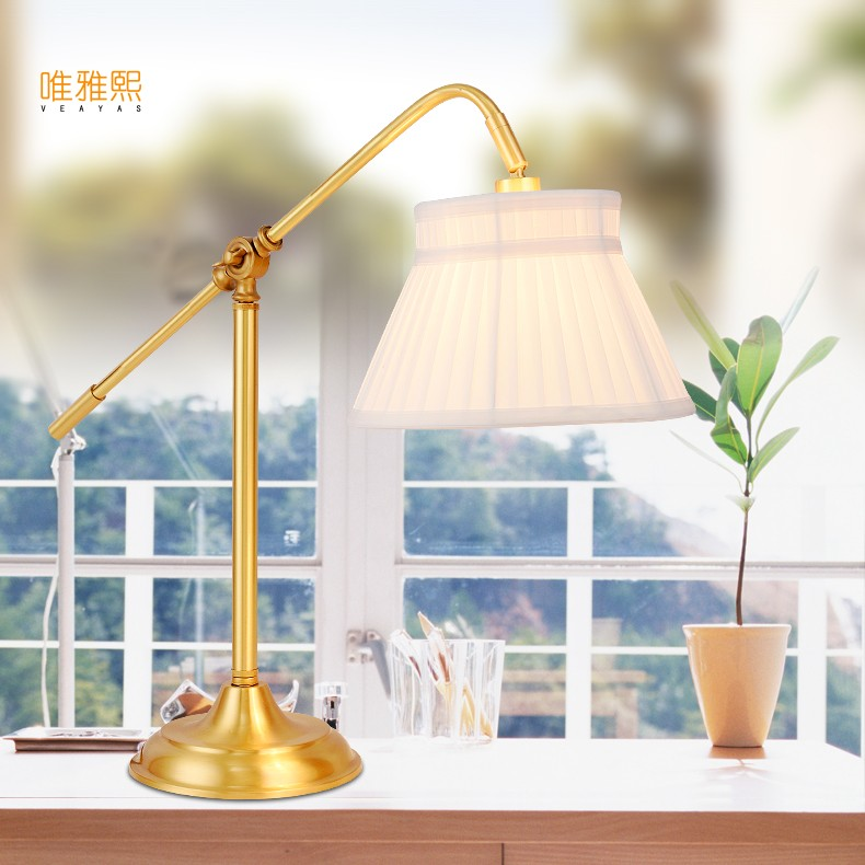 Modern Nordic Creative Table Lamps  White  Shade LED Table Lamparas Golden Metal Iron Stick Bedside Adornment Lighting