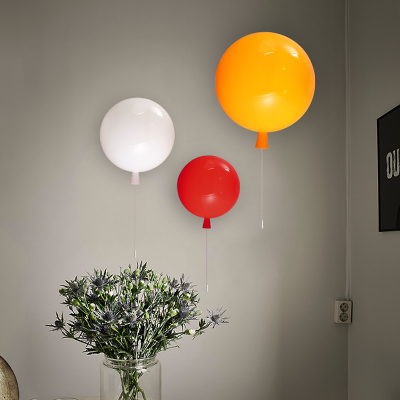 Modern color balloon light  simple acrylic entrance restaurant bedroom bedside lamp children bedroom wall lamp