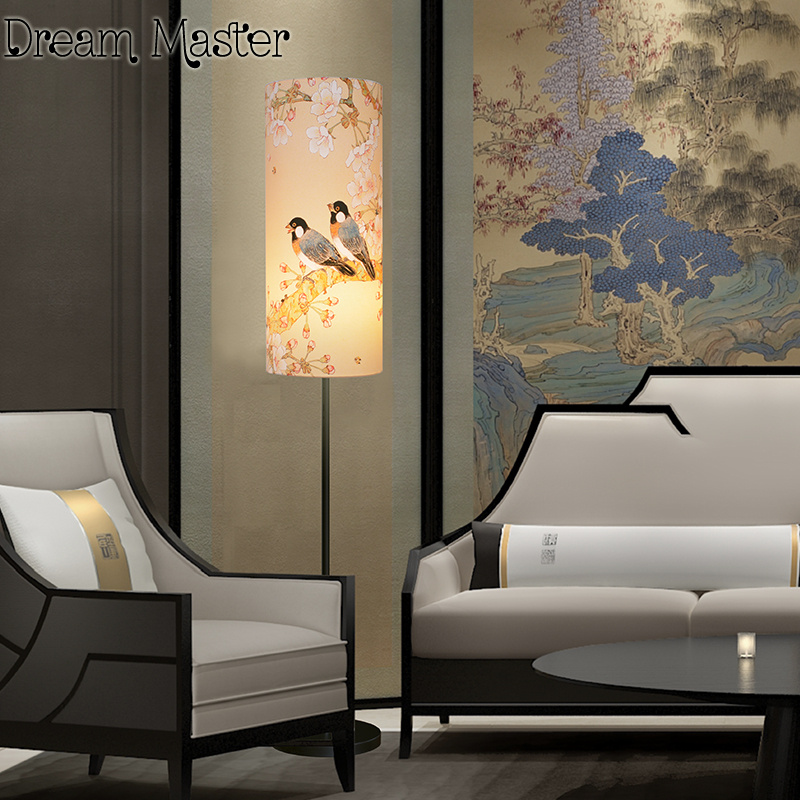 The new Chinese style bedroom living room lamp lights retro minimalist modern creative den LED head vertical desk lamp