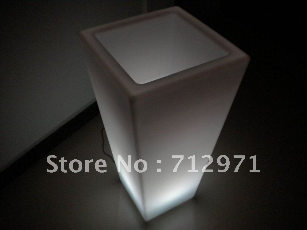 wedding party event bar garden decor illuminated wireless remote control LED flower pot color changing flowerpot flower vase