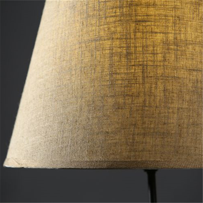Rustic Wooden Tripod Floor Lamp Fabric Lampshades Classical Chinese Light Living Room Stand Lamps Modern Contemporary FL-18