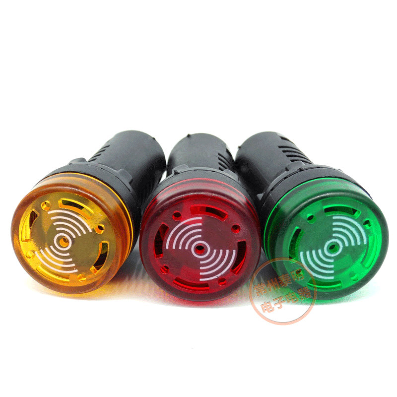 5pcs/lot AD16-22SM Flash LED Buzzer Indicator Light Buzzer Signal Lamp 22mm 12V 24V 220V 110V