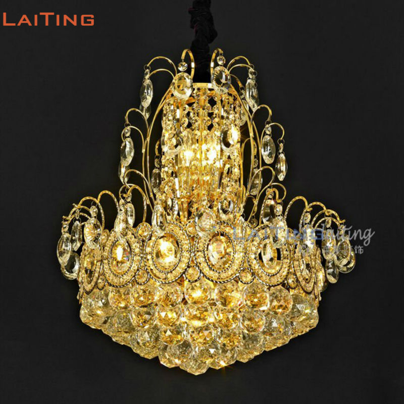 Country Chinese Style Pendant Lights Bedroom Lamp Restaurant Lighting with Crystal