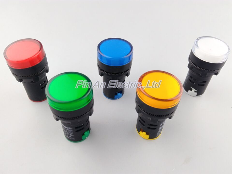 Indicator AD16-22DS 220V LED signal lamp Red/Green/Huang/Blue/White Indicator Lights