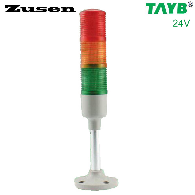 Zusen 40mm signal tower light  TB42-3T-D 24V red green yellow led